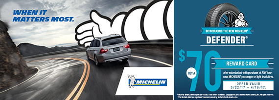 Michelin Spring 2017 Reward - $70